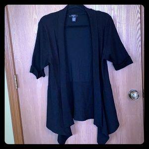 Black short sleeved sweater